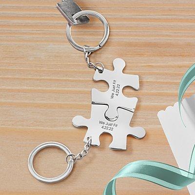 Perfect Fit Puzzle Key Chain Set