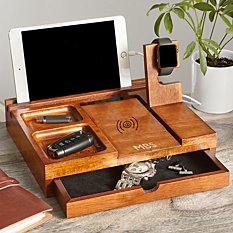 Wireless Wood Charging Station and Valet