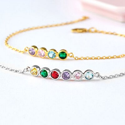 Forever Family Stacked Birthstone Bracelet