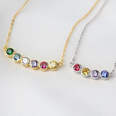 Forever Family Stacked Birthstone Necklace
